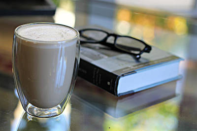 Katharine Hepburn - Coffee and a Good Book by Steve Natale