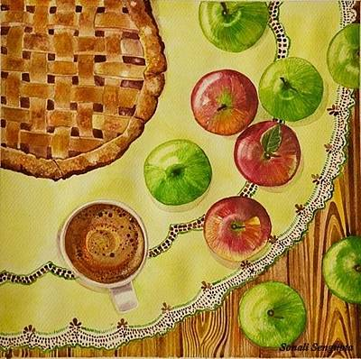 Painting - Coffee And Apple Pie.. by Sonali Sengupta