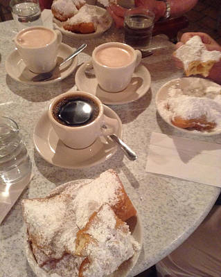 Photograph - Coffee And Beignets by Alison Stein