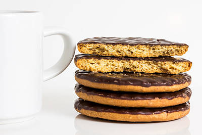 Coffee And Cookies. Art Print by Gary Gillette