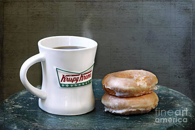 Coffee And Doughnuts Art Print by Darren Fisher