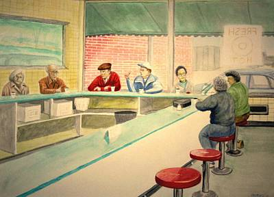 Painting - Coffee And Doughnuts by Stacy C Bottoms