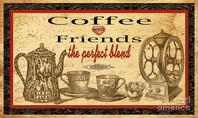 Coffee And Friends-jp1716b Original by Jean Plout