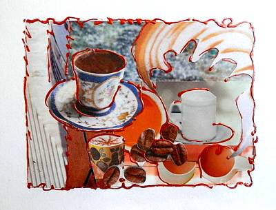 Coffee And Lunch Art Print
