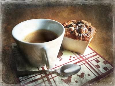 Coffee And Muffin Art Print by Barbara Orenya