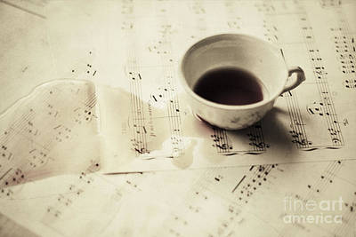 Bohemian Photograph - Coffee And Notes 2 by Violet Gray