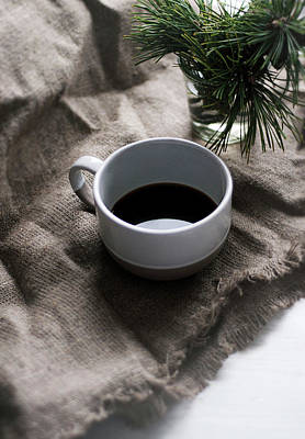 Branches Photograph - Coffee And Pine by Matilda K?llman
