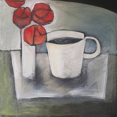Painting - Coffee And Roses by Tim Nyberg