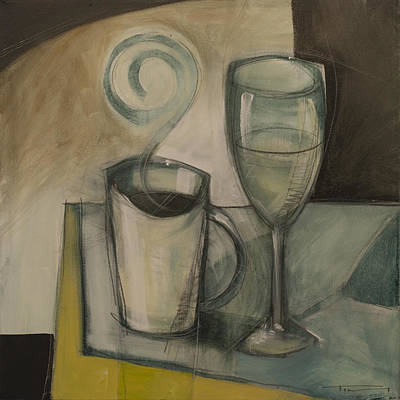 Painting - Coffee And Wine by Tim Nyberg