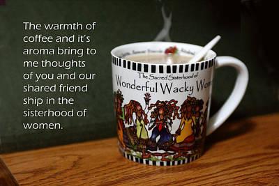 Coffee And You Art Print by Linda Phelps