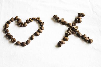 Coffee Bean Love Art Print by Georgia Fowler