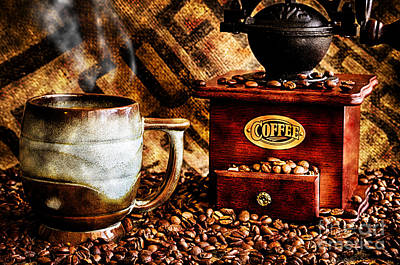 Photograph - Coffee Beans And Grinder Closeup by Danny Hooks