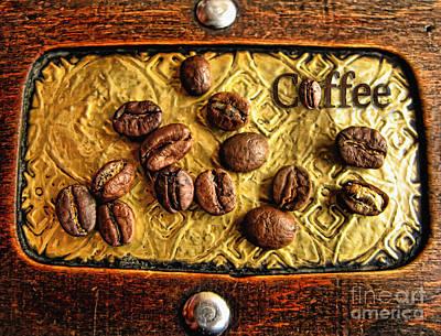 Photograph - Coffee Beans And Wood by Daliana Pacuraru