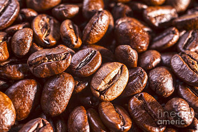 Photograph - Coffee Beans Close-up by Colin and Linda McKie