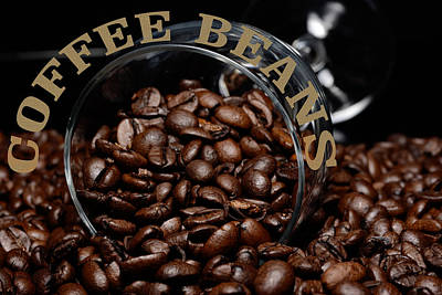 Coffee Beans In Glass  Original by Tommytechno Sweden