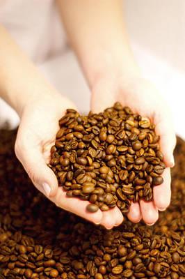 Coffe Digital Art - Coffee Beans by Iva Krapez