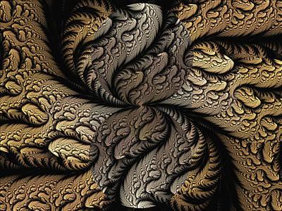 Art Print featuring the digital art Coffee Beans by Lea Wiggins