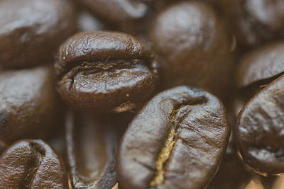 Photograph - Coffee Beans Macro 2 by David Haskett II