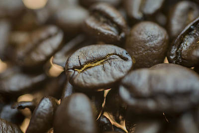 Photograph - Coffee Beans Macro 3 by David Haskett II