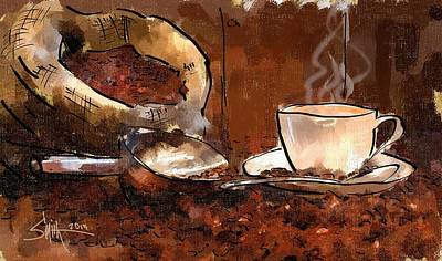 Painting - Coffee Beans by Robert Smith