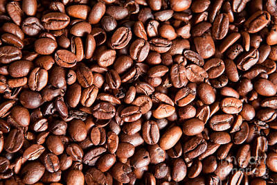 Coffee Beans  Art Print by Sharon Dominick