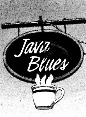 Coffee Blues  Art Print by Juls Adams