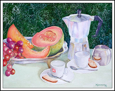Painting - Coffee Break by Mariarosa Rockefeller