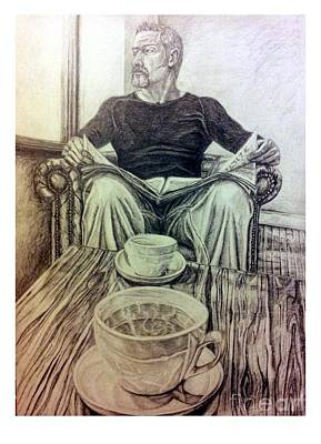 Bistro Drawing - Coffee Break by R Muirhead Art