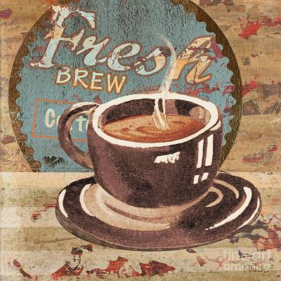 Wall Art - Painting - Coffee Brew Sign I by Paul Brent