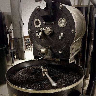 Steampunk Photograph - #coffee #coffeebeans #beans #roaster by Audrey Devotee