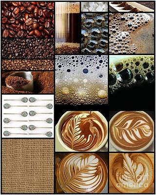 Collage Photograph - Coffee Collage by Andrea Cofferen