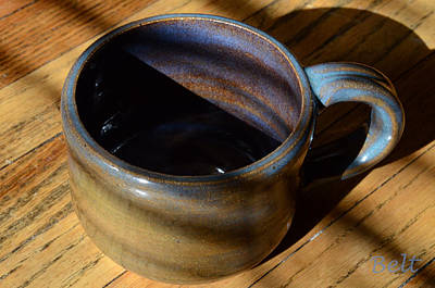 Ceramic Cup Ceramic Art - Coffee Connoisseur No.3 by Christine Belt