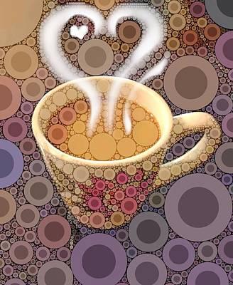Coffee Digital Art - Coffee Cup by Cindy Edwards