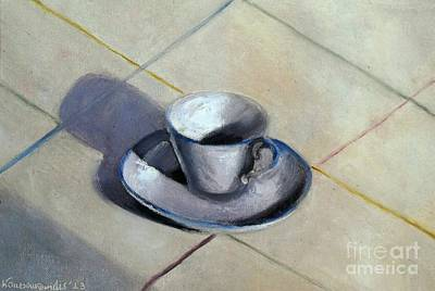 Coffee Cup Art Print by Kostas Koutsoukanidis