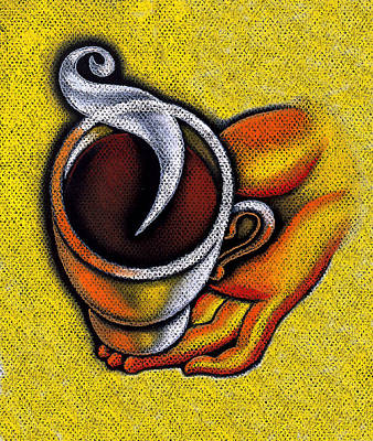 Tea Time Painting - Coffee Cup  by Leon Zernitsky