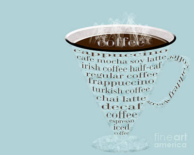 Digital Art - Coffee Cup The Jetsons Blue by Andee Design