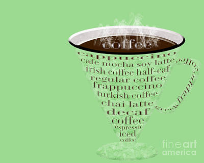 Digital Art - Coffee Cup The Jetsons Green by Andee Design