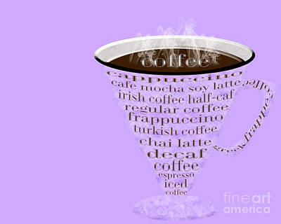 Digital Art - Coffee Cup The Jetsons Purple by Andee Design
