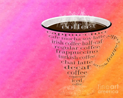 Digital Art - Coffee Cup The Jetsons Sorbet by Andee Design