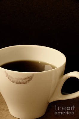 Coffee Cup With Lipstick Mark Art Print by Birgit Tyrrell