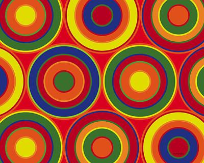 Digital Art - Circles by Ron Magnes