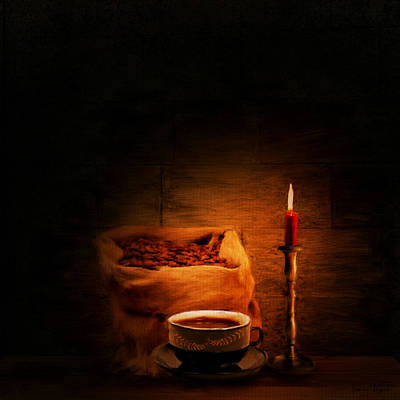 Still Life Digital Art - Coffee Date by Lourry Legarde
