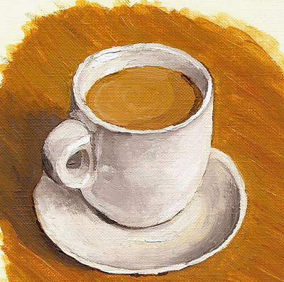 Wall Art - Painting - Coffee Espresso Cup And Saucer by
