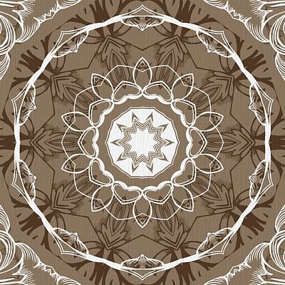 Digital Art - Coffee Flowers 1 Ornate Medallion by Angelina Tamez