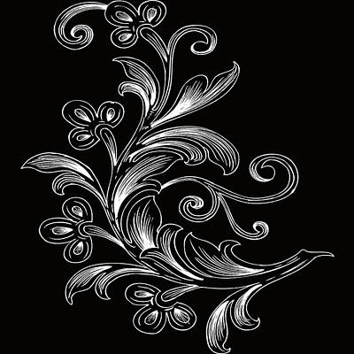 Digital Art - Coffee Flowers 4 Bw by Angelina Tamez