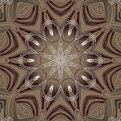 Digital Art - Coffee Flowers 4 Ornate Medallion by Angelina Tamez