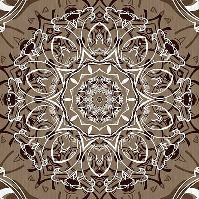 Digital Art - Coffee Flowers 7 Ornate Medallion by Angelina Tamez