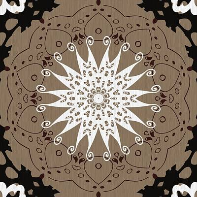 Digital Art - Coffee Flowers 9 Ornate Medallion by Angelina Tamez