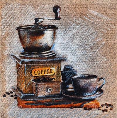 Drawing - Coffee Grinder by Daliana Pacuraru