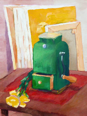 Painting - Coffee Grinder Still Life by Lutz Baar